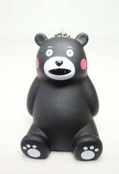 Black Bear Kumamon PVC keychain - sitting China, Kumamon, Keychains, 2016|Color~black, cute animals