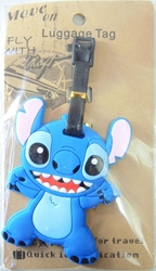 Disney Lilo & Stitch Soft Plastic Luggage Tag - Stitch waving