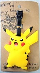 Pokemon Soft Plastic Luggage Tag - Pikachu China, Pokemon, Luggage Tag, 2016|Color~yellow, animated, game