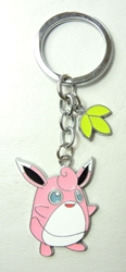 Pokemon Go metal alloy keychain - Wigglytuff China, Pokemon Go, Keychains, 2016|Color~pink|Color~white, cute animals, video game