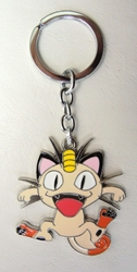 Pokemon Go metal alloy keychain - Meowth China, Pokemon Go, Keychains, 2016|Color~fleshtone|Color~white|Color~red, cute animals, video game