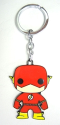 DC Pop! Superhero alloy keychain - The Flash China, DC, Keychains, 2016|Color~red|Color~yellow|Color~fleshtone, superhero, comic book