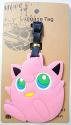 Pokemon Soft Plastic Luggage Tag - Jigglypuff China, Pokemon, Luggage Tag, 2016|Color~pink, animated, game