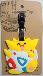 Pokemon Soft Plastic Luggage Tag - Togepi China, Pokemon, Luggage Tag, 2016|Color~white|Color~yellow, animated, game