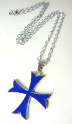 Assassins Creed alloy pendant necklace -  Blue Cross Insignia of the Templars China, Assassins Creed, Necklace, 2016|Color~blue, warriors, video game