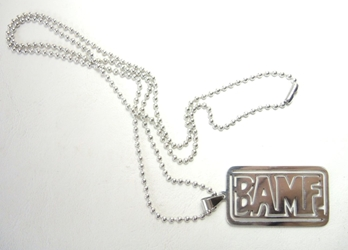 Overwatch alloy dog tag necklace - BAMF China, Overwatch, Keychains, 2016|Color~silver, superhero, video game