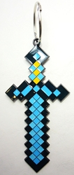 Minecraft alloy keychain - 6 inch Sword China, Minecraft, Keychains, 2016|Color~blue|Color~black, adventure, video game