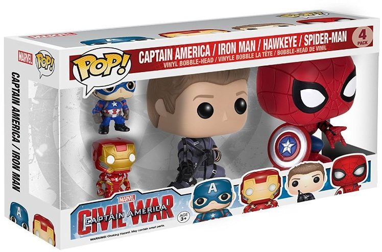 Funko POP! Marvel 3.75 inch figure set - Captain America Civil War Funko, Marvel, Action Figures, 2016, superhero, comic book