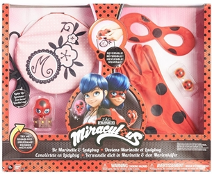 Miraculous Be Marinette and Ladybug Role Play Pack Bandai, Miraculous, Cosplay, 2016|Color~red|Color~black|Color~pink, adventure, cartoon