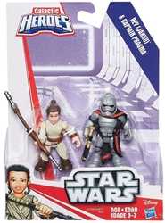 Playskool Star Wars 2.5 inch figures - Rey and Captain Phasma Playskool, Star Wars, Action Figures, 2015, scifi, movie