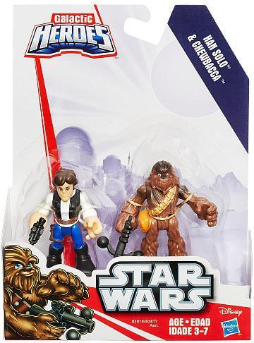 Playskool Star Wars 2.5 inch figures - Han Solo and Chewbacca Playskool, Star Wars, Action Figures, 2015, scifi, movie