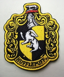 Harry Potter embroidered velcro patch - House Hufflepuff China, Harry Potter, Cosplay, 2017|Color~yellow|Color~black, fantasy, book