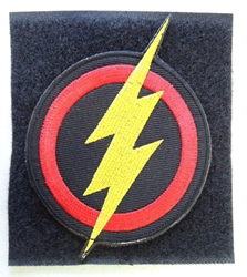 The Flash Emblem - embroidered velcro patch China, The Flash, Cosplay, 2017|Color~red|Color~yellow|Color~black, superhero, comic book
