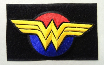 Wonder Woman Emblem - embroidered velcro patch China, Wonder Woman, Cosplay, 2017|Color~red|Color~yellow|Color~black, superhero, comic book