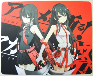 Akame Ga Kill Mouse Pad - Two Akames (red background) China, Akame Ga Kill, Mouse Pads, 2017, anime