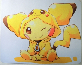 Pokemon Mouse Pad - Pikachu in Pikachu costume! China, Pokemons, Mouse Pads, 2017, kidfare