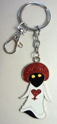 Kingdom Hearts alloy keychain - White Mushroom (white robe) China, Kingdom Hearts, Keychains, 2017|Color~white|Color~red|Color~black, anime