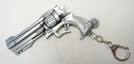 Overwatch alloy keychain - 4 inch Peacemaker Revolver (brushed aluminum) China, Overwatch, Keychains, 2017|Color~brushed aluminum, superhero, video game
