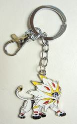 Pokemon Sun and Moon alloy keychain - Solgaleo China, Pokemon, Keychains, 2017|Color~white|Color~yellow|Color~red, animated, game