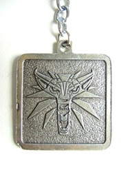 The Witcher alloy keychain - Lionhead medallion China, The Witcher, Keychains, 2016|Color~pewter, fantasy, video game