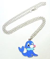 Pokemon alloy pendant necklace - Popplio China, Pokemon, Necklace, 2017|Color~blue|Color~white, animated, game