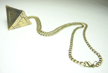 Yu-Gi-Oh! Alloy pendant necklace - the Millennium Pyramid (brass) China, Yu-Gi-Oh!, Necklace, 2017|Color~brass, animated, game
