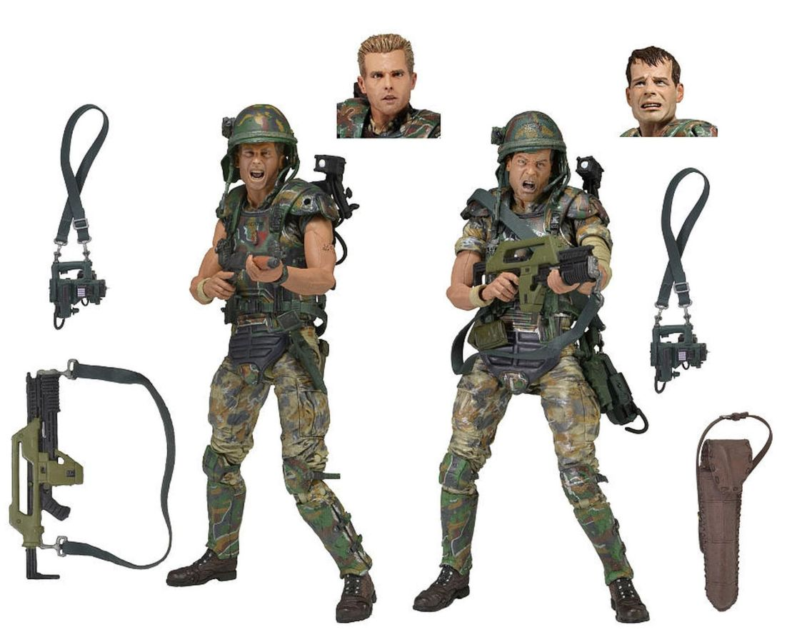 NECA Aliens Colonial Marines 2-pack - Corporal Dwayne Hicks and Private William Hudson