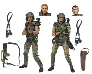 NECA Aliens 2-pack Colonial Marines - Corporal Dwayne Hicks and Private William Hudson NECA, Aliens, Action Figures, 2017, scifi, movie