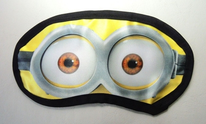 Despicable Me Minion Sleep Mask - kid sized China, Despicable Me, Plush, 2017|Color~yellow|Color~white|Color~black, animated, movie