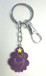 Adventure Time alloy kechain - Lumpy Space Princess China, Adventure Time, Keychains, 2017|Color~grape|Color~yellow, adventure, cartoon