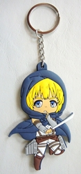 Attack on Titan 3 inch soft plastic keychain - Armin Arlert China, Attack on Titan, Keychains, 2017|Color~navy|Color~yellow|Color~white, scifi, japan