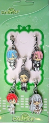 Re:Zero Starting Life in Another World - set of 5 alloy clip-on charms China, Re:Zero - Starting Life in Another World, Keychains, 2017|Color~white|Color~fleshtone, anime
