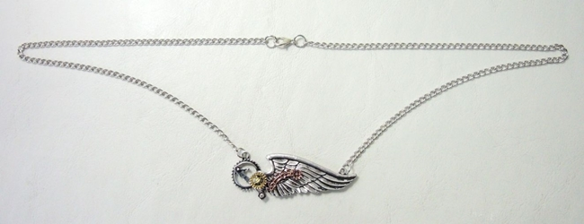 Steampunk alloy necklace - Flight of Function China, Steampunk, Necklace, 2017|Color~Silver, scifi