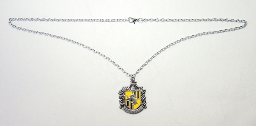 Harry Potter alloy pendant necklace - Crest of Hufflepuff China, Harry Potter, Necklace, 2015|Color~yellow|Color~pewter, fantasy, book