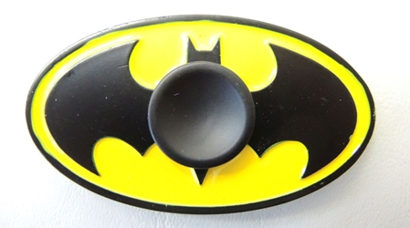 Batman metal alloy Fidget Spinner - Batman Batsignal China, Batman, Spinner, 2017|Color~yellow|Color~black, superhero, comic book