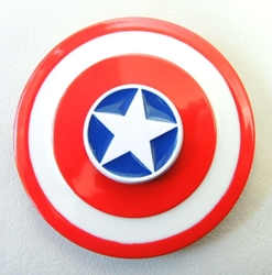 Captain America metal alloy Fidget Spinner - Patriotic Shield China, America, Spinner, 2017|Color~red|Color~white|Color~blue, family