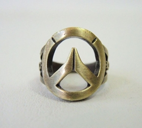 Overwatch Logo metal ring China, Overwatch, Novelty Jewelry, 2017|Color~brass, superhero, video game