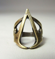 Assassins Creed Symbol of the Order metal ring China, Assassins Creed, Novelty Jewelry, 2017|Color~brass, warriors, video game