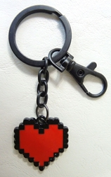 Undertale alloy keychain - Soul Heart [flat design] China, Undertale, Keychains, 2016|Color~red|Color~black, fantasy, video game