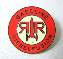 Fallout 4 Alloy pin - Red Rocket Outpost China, Fallout, Novelty Jewelry, 2017|Color~red|Color~cream, scifi, video game