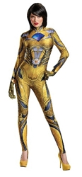 Power Rangers - Yellow Ranger Bodysuit Costume - Size: S/P 4-6 Disguise, Power Rangers, Cosplay, 2017|Color~yellow, scifi, tv show