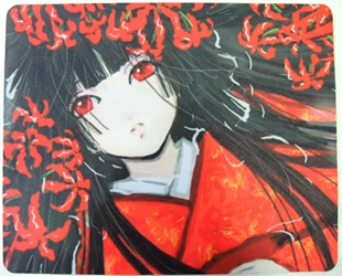 Hell Girl Anime Mouse Pad -  Ai Enma in red kimono China, Hell Girl, Mouse Pads, 2017, horror, halloween, japan