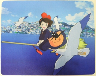 Kikis Delivery Service Anime Mouse Pad - Kiki Flying on her broom China, Kikis Delivery Service, Mouse Pads, 2017, anime, movie