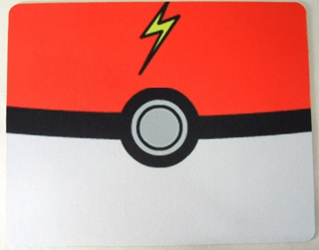 Pokemon Mouse Pad - Pokeball China, Mass Effect, Mouse Pads, 2017|Color~red|Color~white