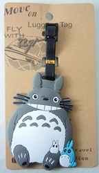 Totoro Luggage Tag - Totoro & forest spirits China, My Neighbor Totoro, Luggage Tag, 2017|Color~grey|Color~cream, anime