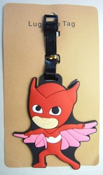 PJ Masks Soft Plastic Luggage Tag - Owlette (red) China, PJ Masks, Luggage Tag, 2017|Color~red, kidfare, cartoon