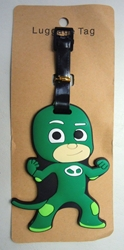 PJ Masks Soft Plastic Luggage Tag - Gekko (green) China, PJ Masks, Luggage Tag, 2017|Color~red, kidfare, cartoon