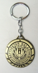 Battlestar Galactica Medallion keychain (brass finish, chrome ring) China, Battlestar Galactica, Keychains, 2017|Color~brass, scifi, tv show