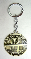 Star Wars alloy keychain - The Death Star (brass) China, Star Wars, Keychains, 2017|Color~brass|Color~black, scifi, movie