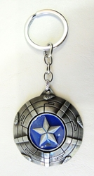 Captain America alloy keychain - Winter Soldier`s Shield with spinning Star China, Captain America, Keychains, 2017|Color~blue|Color~pewter, superhero, movie